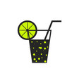 soda lemon icon vector image