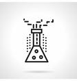 Chemical reaction black line design icon vector image
