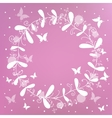 pink background with a wreath vector image