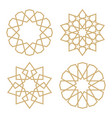 a set of stars in the arab style vector image vector image