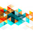 abstract colorful geometric and modern vector image vector image