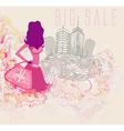 abstract fashion girl Shopping - vector image vector image