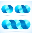 Abstract infinity disks symbols vector image vector image