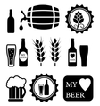 beer isolated objects set vector image vector image