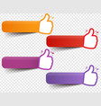 best choice set with ribbon and transparent vector image