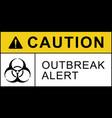 biohazard warning quarantine outbreak alert poster vector image