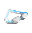 blue swimming goggles vector image