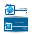 business card for repair plumbing vector image vector image