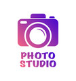 camera icon in trendy flat style isolated on white vector image vector image