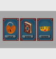 card game collection fantasy ui kit with magic vector image vector image