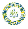 carnival in wreath vector image vector image