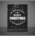 christmas card with dark background and pattern vector image