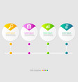 circle timeline infographic elements layout 4 vector image vector image