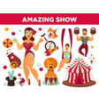 circus show performance elements and accessories vector image vector image