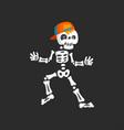 creepy skeleton character in baseball cap dancing vector image vector image