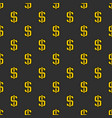 dark dollar pattern vector image