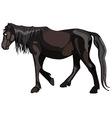 dark horse walks pensively vector image