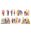family large set vector image vector image