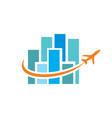 fly through town logo vector image