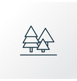 forest icon line symbol premium quality isolated vector image vector image