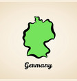 germany - outline map vector image