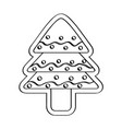 gingerbread with a christmas tree shape vector image vector image