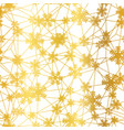 golden christmas snowflakes net seamless pattern vector image vector image