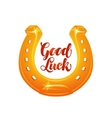Golden horseshoe for luck vector image vector image