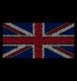 great britain flag pattern of medieval sword items vector image vector image