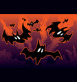 halloween with bats vector image vector image
