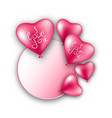heart balloons on a white background vector image vector image