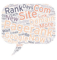 How To Get A Pagerank In Days text background vector image vector image