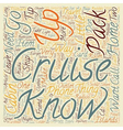 How To Pack For Cruise Travel text background vector image vector image