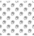 human think brain pattern seamless vector image vector image
