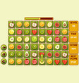 interface fruit match3 games different vector image