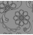 lace seamless pattern floral ornament vector image