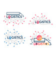 logistics icons company business logo truck vector image