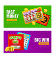 lottery online banners vector image vector image