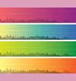 managua multiple color gradient skyline banner vector image vector image