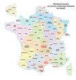 map roman catholic church in france vector image vector image