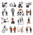 Meeting People Icon Set vector image vector image
