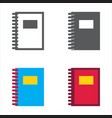notebook designed icons set vector image