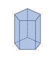 pentagonal prism vector image vector image