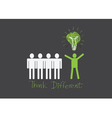 people icons think different vector image vector image