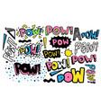 pow retro collection hand drawn quote vector image vector image