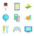 railway network icons set cartoon style vector image vector image