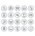 real estate line icons on white vector image vector image