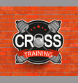 Retro styled crosstraining emblem vector image vector image