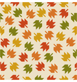 seamless pattern with the falling leaves vector image