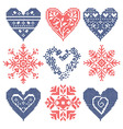 set patchwork knitted vector image vector image